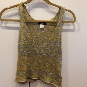 BDG Yellow Knit Sweater Tank